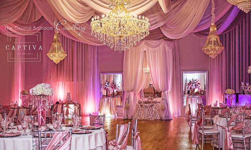 Welcome To The Crystal Ballroom Wedding Venue Decorations