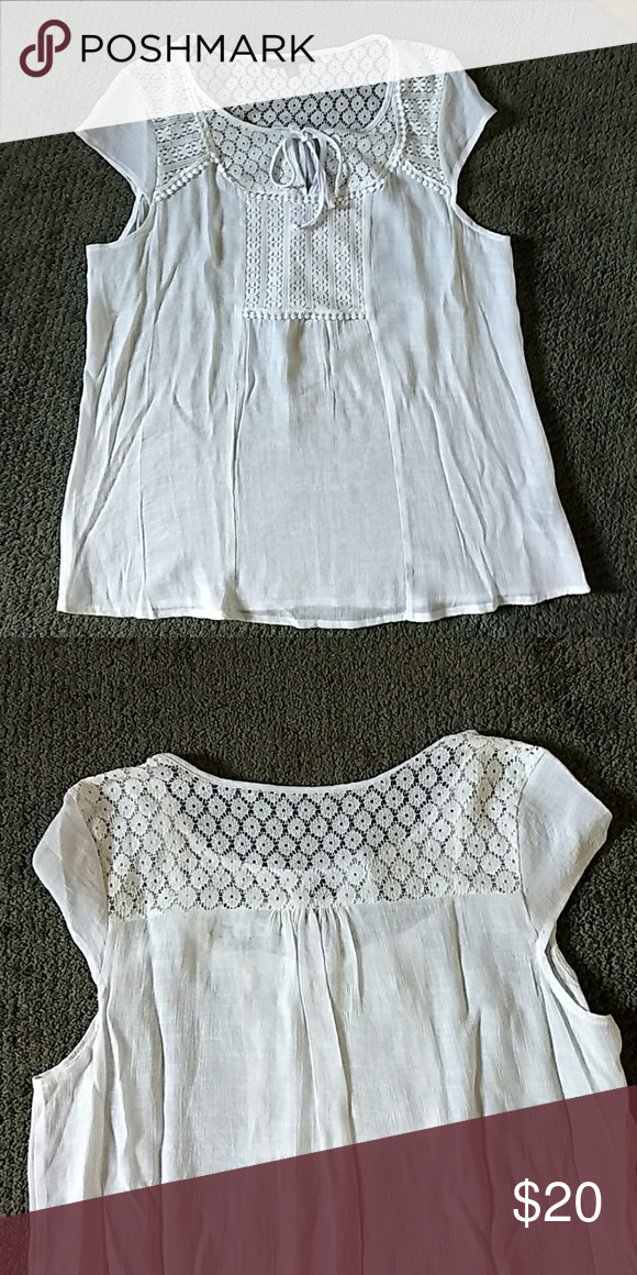 361b84cc161 Doll Top Beautiful white top by Zac   Rachel Zac   Rachel Tops Blouses