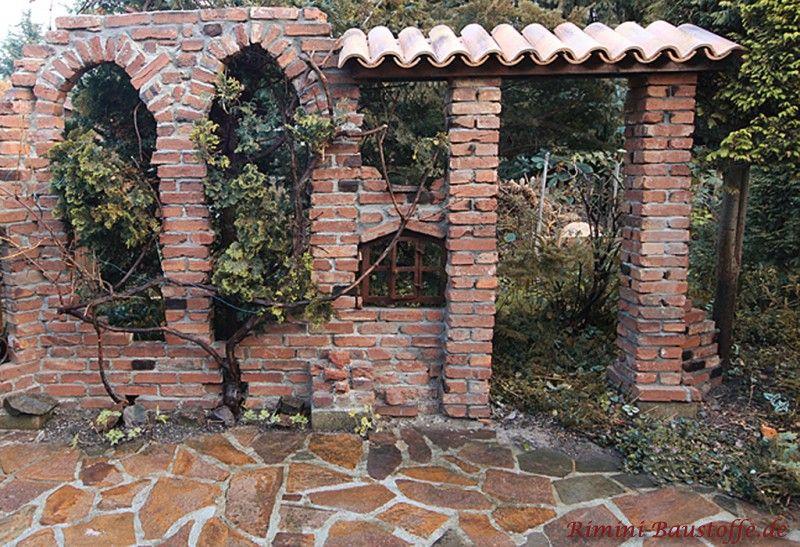 Dekofenster porta in einer ruine verbaut dekofenster garden garden styles und horticulture - Feldmann gartenbau ...