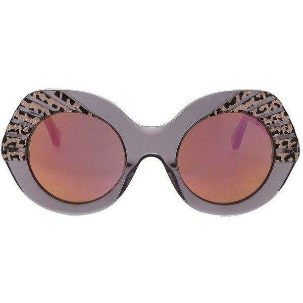 Cutler And Gross Party Leopard Sunglasses (34,060 INR) ❤ liked on Polyvore featuring accessories, eyewear, sunglasses, leopard print glasses, metallic sunglasses, leopard glasses, striped glasses and leopard print sunglasses