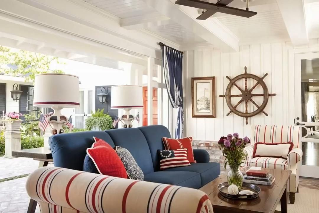 Popcorn Ceiling Solution Video In 2021 Nautical Decor Living Room Blue Sofa Decor Living Room Red