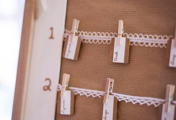 Plan de table |mariage champêtre chic| format XL (52 X 72cm)