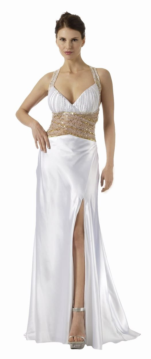 ON SPECIAL LIMITED STOCK - Long White Prom Dress Open Slit Formal ...