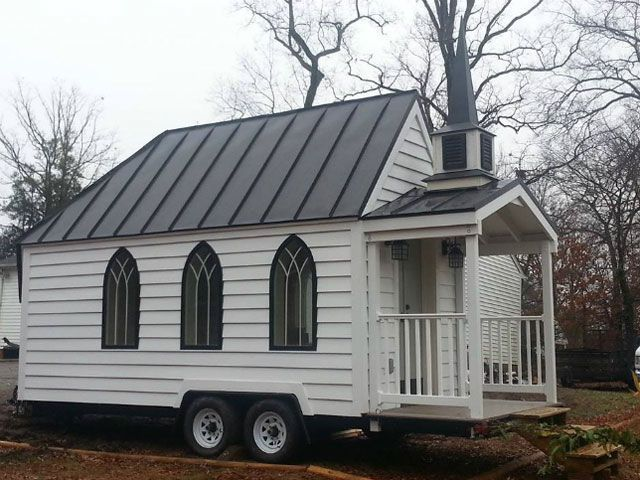 This Tiny Wedding Chapel On Wheels Measures 100 Square Feet Offering Intimate Low Cost Mobile Ceremonies Read More At Curbed
