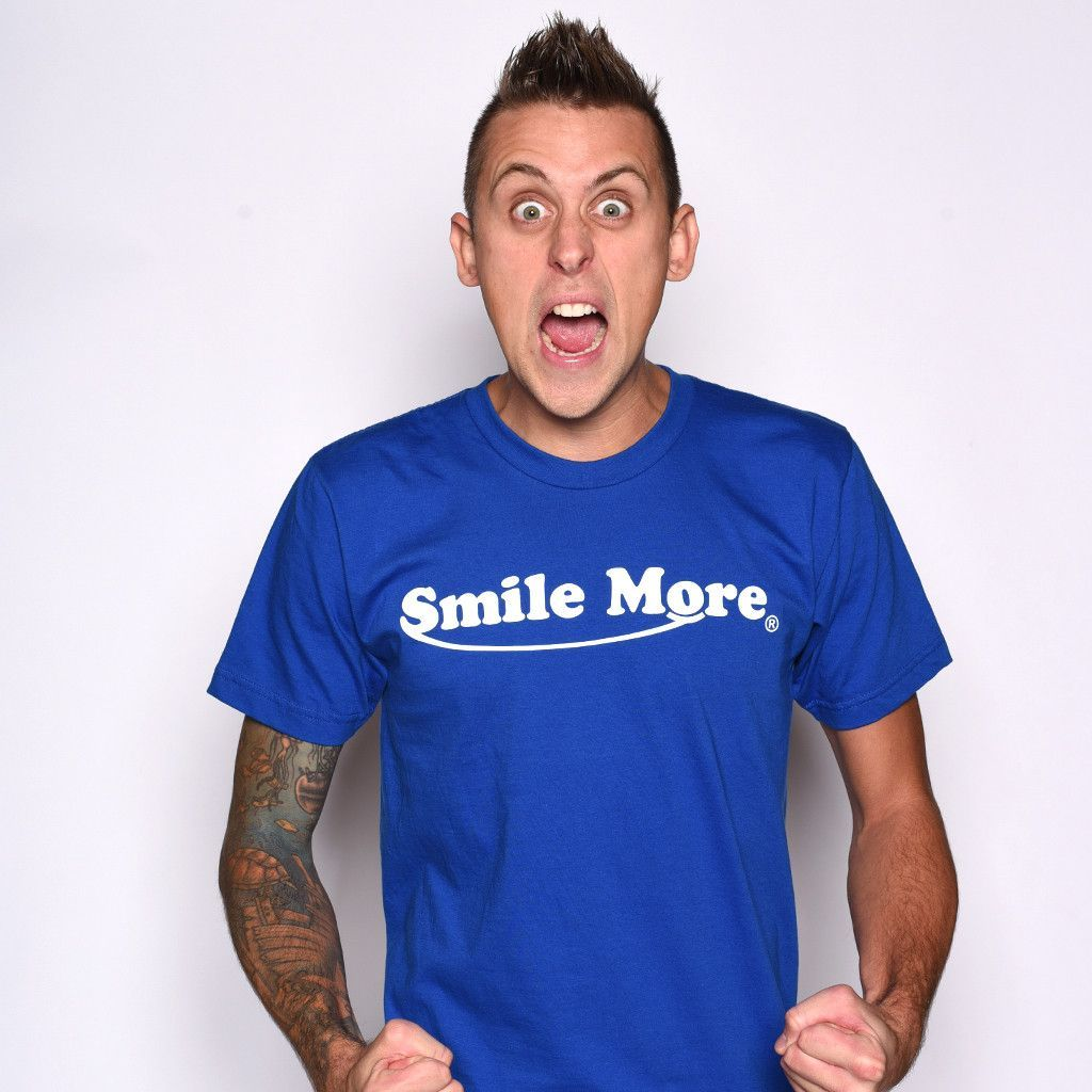 Smile more t shirts men 39 s roman and youtube for The atwood