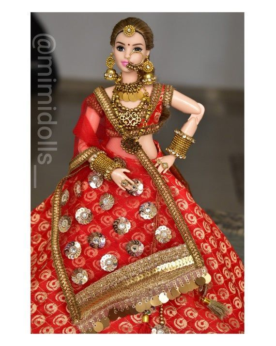 Indian bride doll | Indian bride groom dolls | Indian wedding | Bride doll | Indian bride | Indian groom doll | Indian groom | Barbie & ken #bridedolls Indian bride doll | Etsy #bridedolls