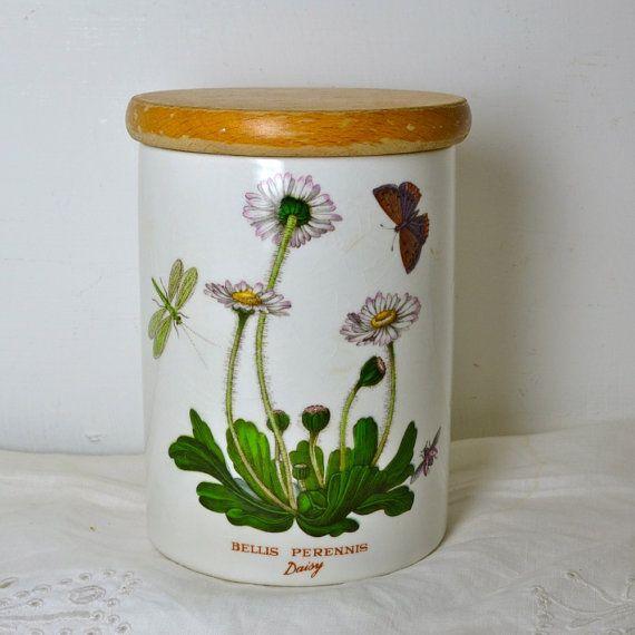 Portmeirion Botanic Garden Ceramic Cookie Jar 1970s