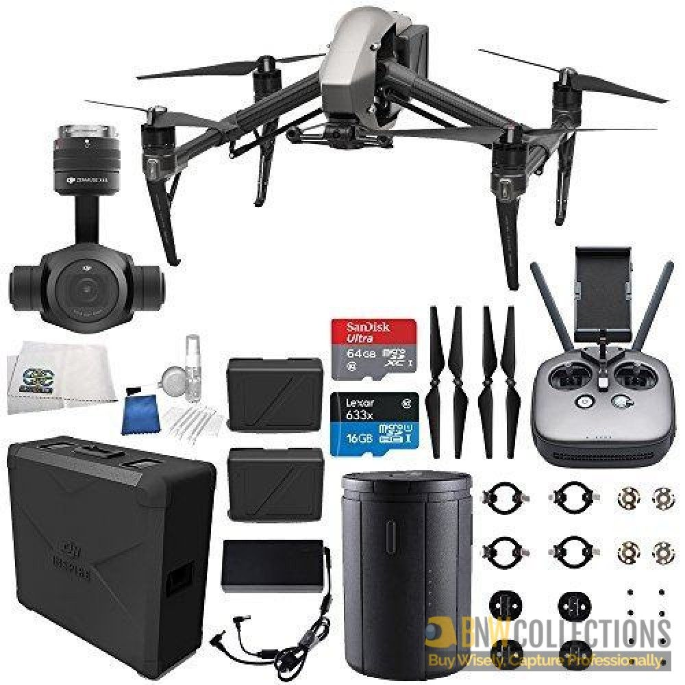 Buy Dji Inspire 2 Quadcopter Zenmuse X4s Starters Bundle At Best Price Features Compatible With 52k Gimbal Cameras Cinecore 20 Image Processing