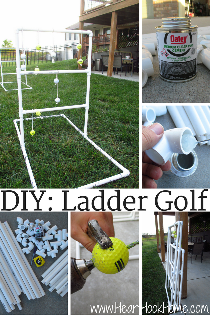 How To Make An Easy Ladder Golf Set Using Pvc Ladder Golf Golf Set Ladder Golf Game