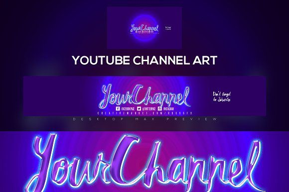 Youtube Channel Art Banner v1 @creativework247 Graphic Design