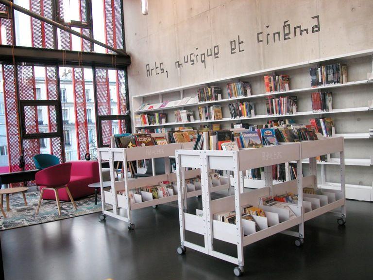 Mobilier de Bibliothèque - Réalisation Médiathèque Kremlin Bicêtre