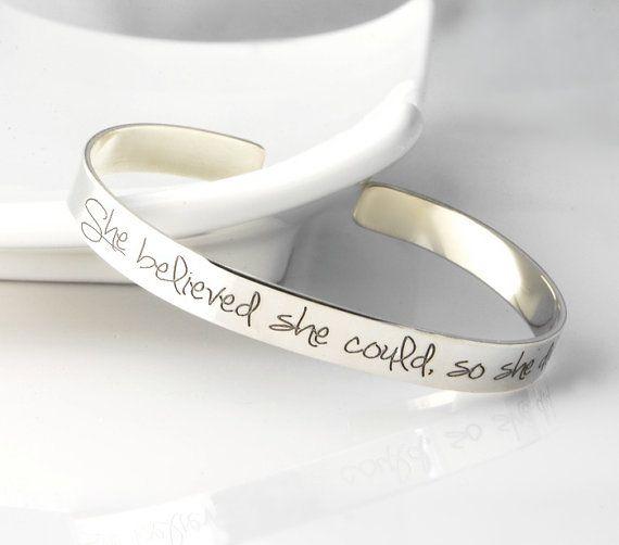 Inspirational Cuff Bracelet both outside & by CherishedSentiments