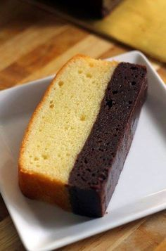 Cake Deux Couches Chocolat Et Appareil Au Mascarpone Dessert