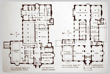 Image From Http Umhistory Dc Umich Edu Mort Central West 20of 20state Michigan 20union Images 17 Union Floorplans Jpg Architecture Image Michigan
