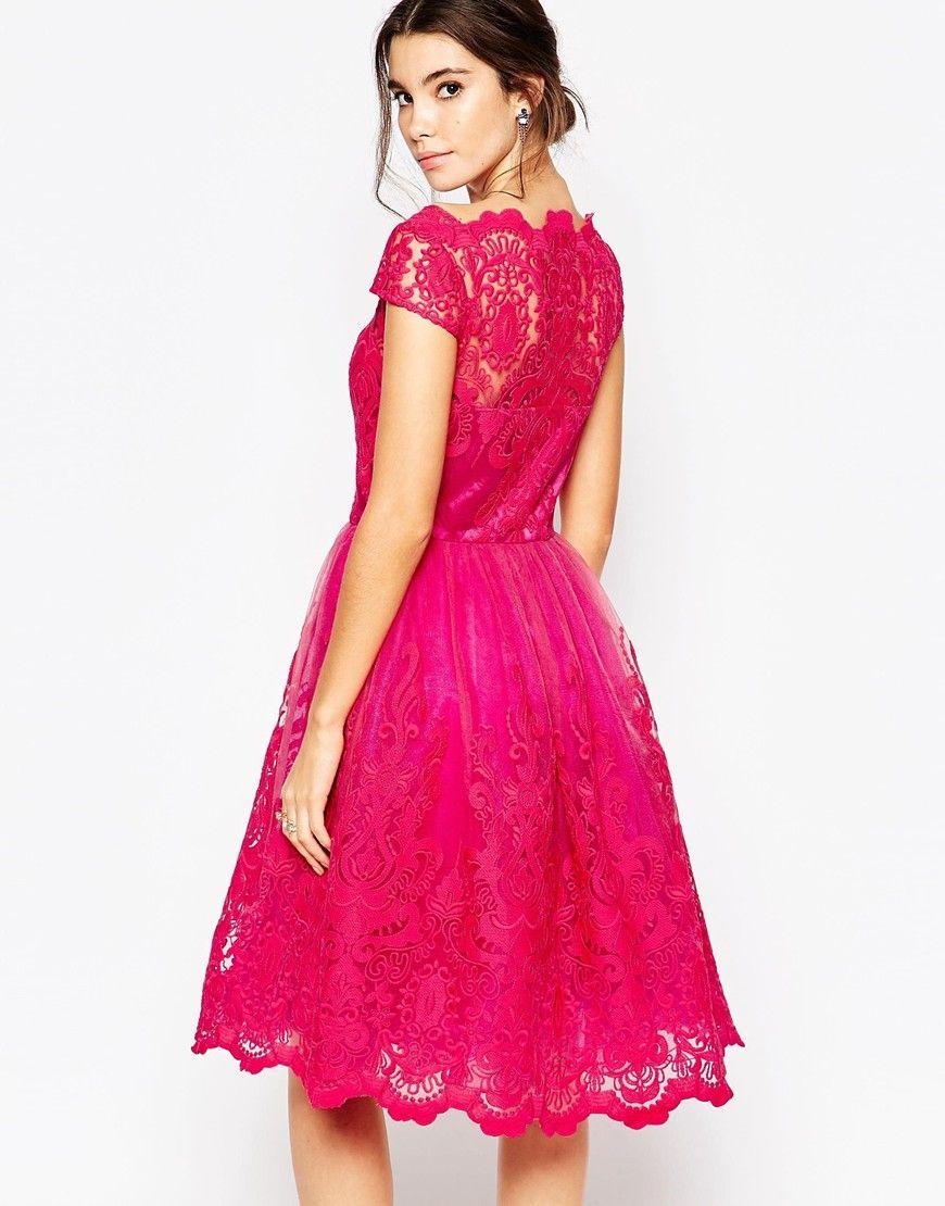 a7cbaa9335 Chi Chi London SUKI sukienka wieczorowa midi rozkloszowana haftowana LUXYOU