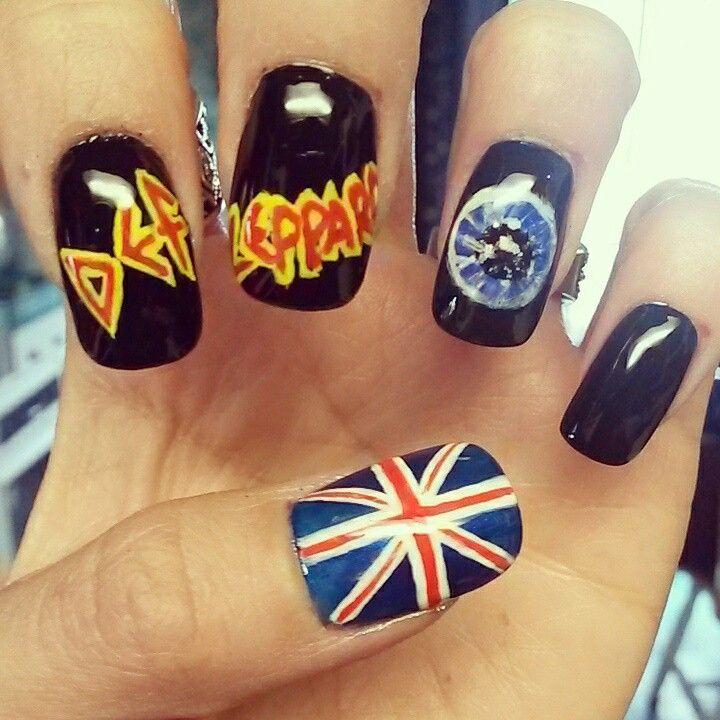 Def Leppard Nail Art Elsa S Nail Designs Pinterest Kawaii