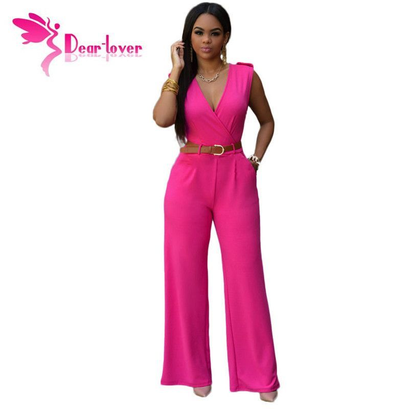 e1cd46df567 ... Lady One Piece Combishort Salopette Barboteuses monos cortos de mujer.  Women Sleeveless Belted Wide Leg Jumpsuit 7 Colors S-2XL