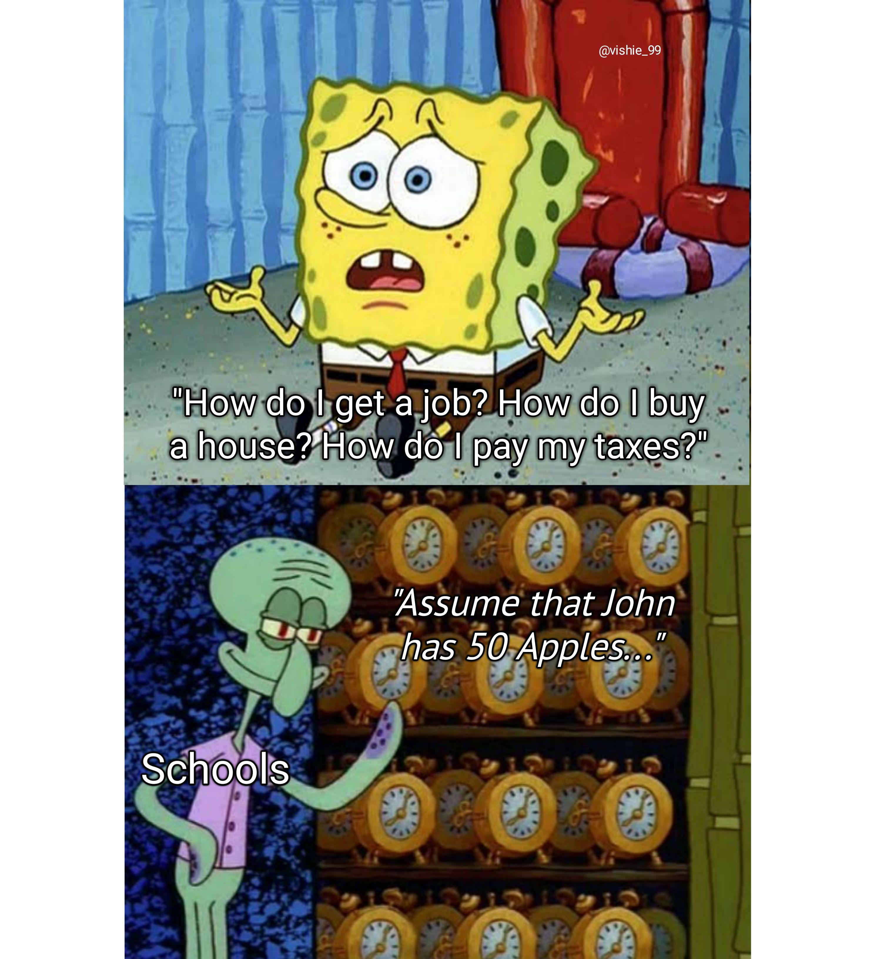 What He Gonna Do Spongebob Funny Funny School Memes Funny Spongebob Memes