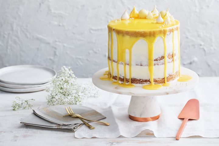 Coconut and elderflower lemon curd drizzle cake | Recipe ...