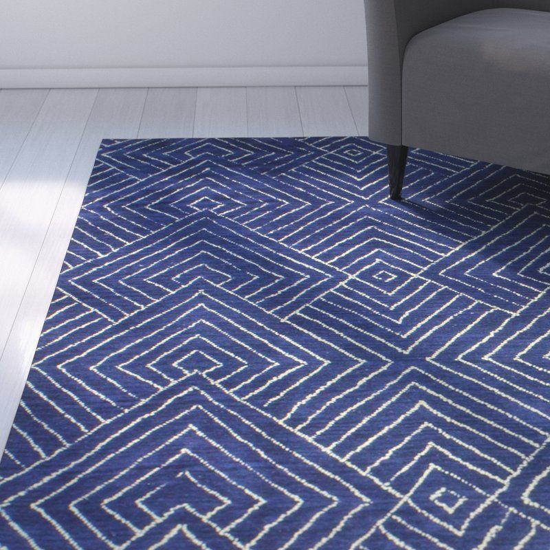 Utsey Hand Tufted Wool Navy Area Rug Walsh Gym Area