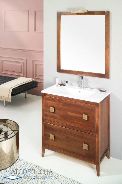 Mueble de ba o oslo de estilo r stico fabricados en - Muebles de bano rustico ...
