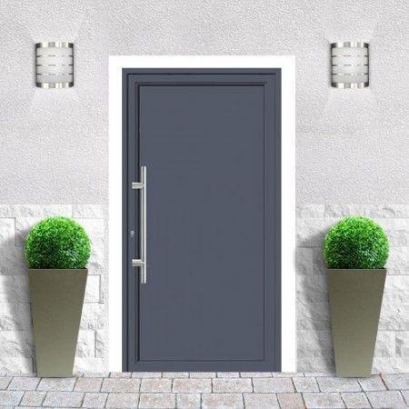 Emalu porte san francisco gamme de portes d 39 entr e en aluminium triple joint double rupture for Isolation thermique porte entree