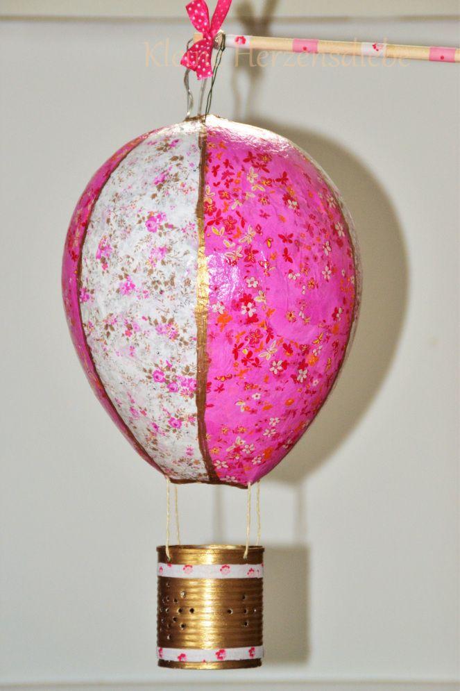 Heißluftballon-Laterne selber machen #laternebasteln