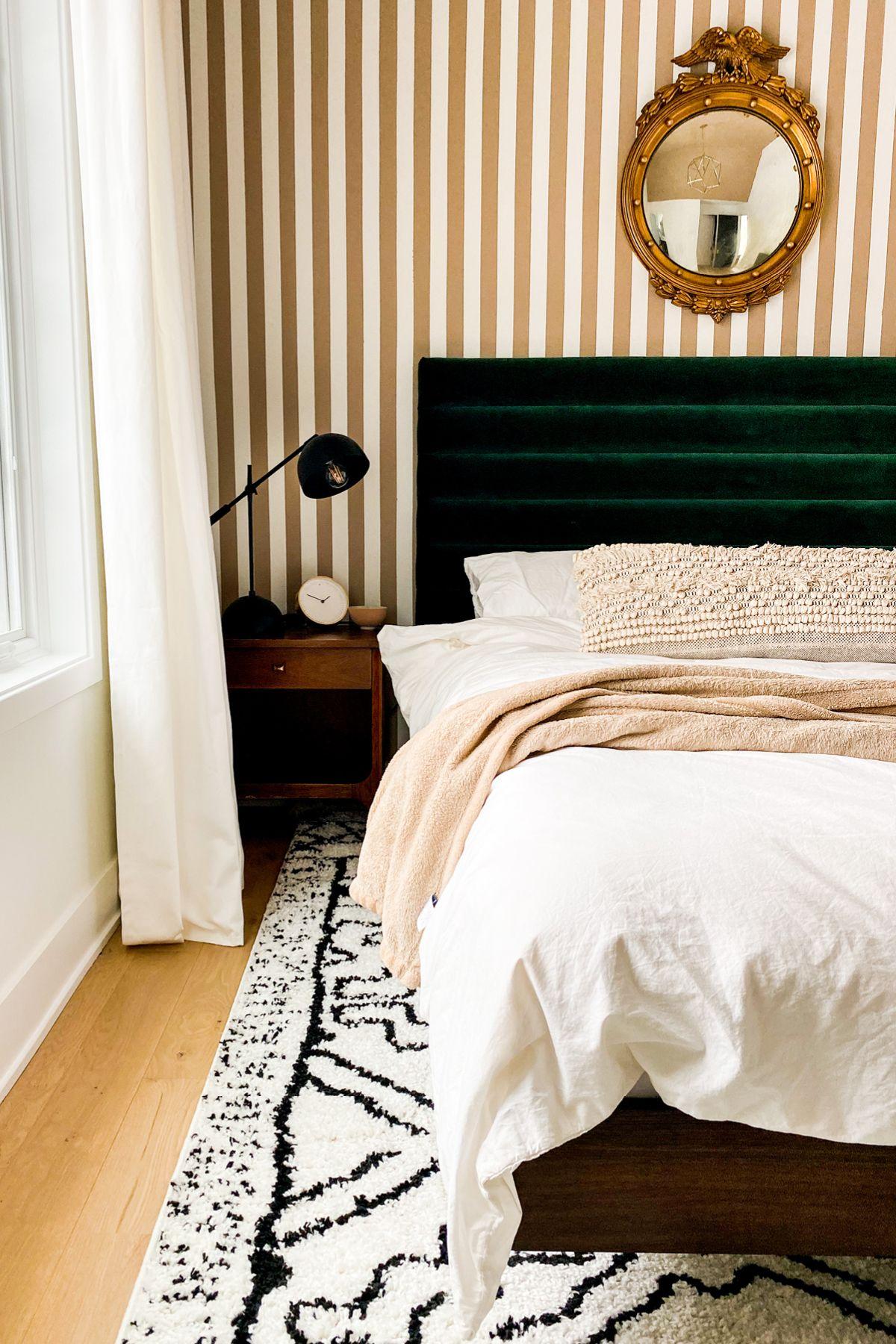 Basi Walnut Queen Bed Frame In 2020 Walnut Bed Velvet Bed Frame