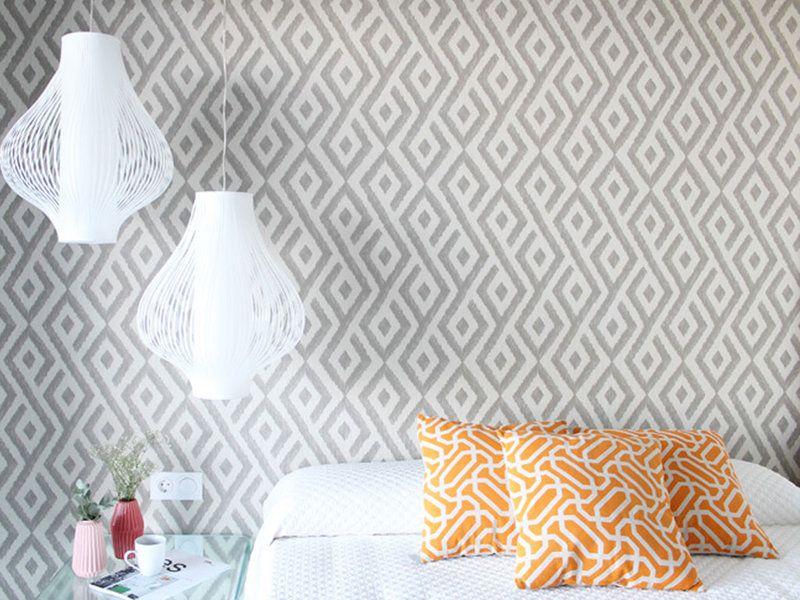 Un apartamento coqueto y funcional textiles for Lamparas para apartamentos pequenos