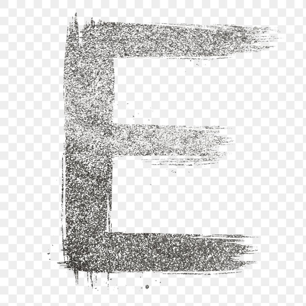 Letter E Png Silver Glitter Brushed Typography Free Image By Rawpixel Com Hein Lettering Typography Letter E