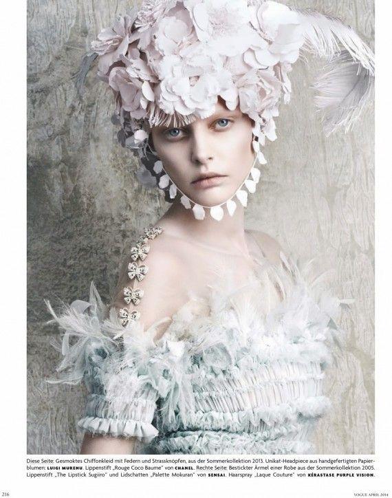 Kopfarbeit by Luigi + Iango for Vogue Germany April 2014 1
