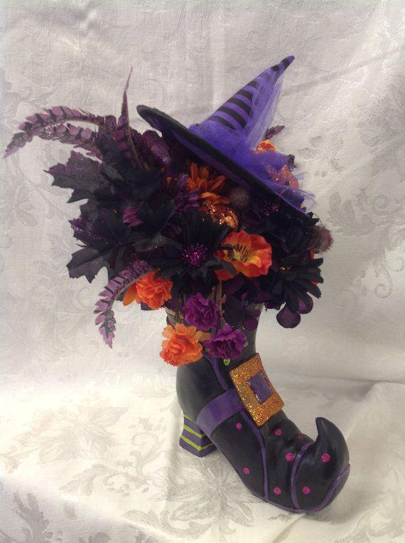 Halloween Centerpiece Witch S Shoe Table Decoration Silk