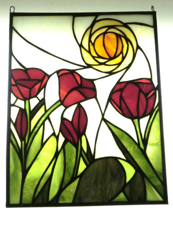 STAINED GLASS TULIPS by heatherlynnstudios on Etsy
