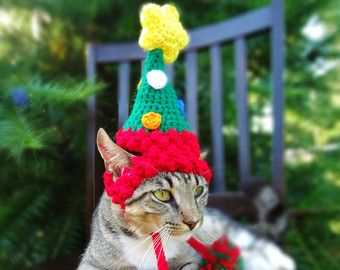 Christmas Cat Costume Hat The Christmas Tree Hat For Cats And Small Dogs Christmas Costume For Pets Christmas Cats Christmas Dog Costume Christmas Tree Hat