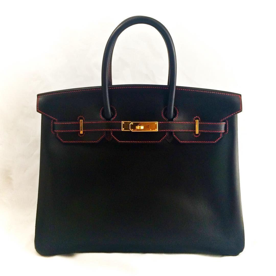 a2134af733 Black Hermes Birkin with red contrast stitching  leathersurgeons  authentic   handbagrepair  handbagrestoration  birkin  instafashion  handbag  tpf   luxury ...