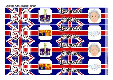 Diamond Jubilee Union Flag display borders