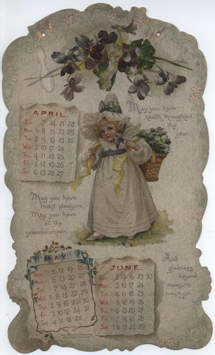 072-c LITTLE LOVES CALENDAR FOR 1901