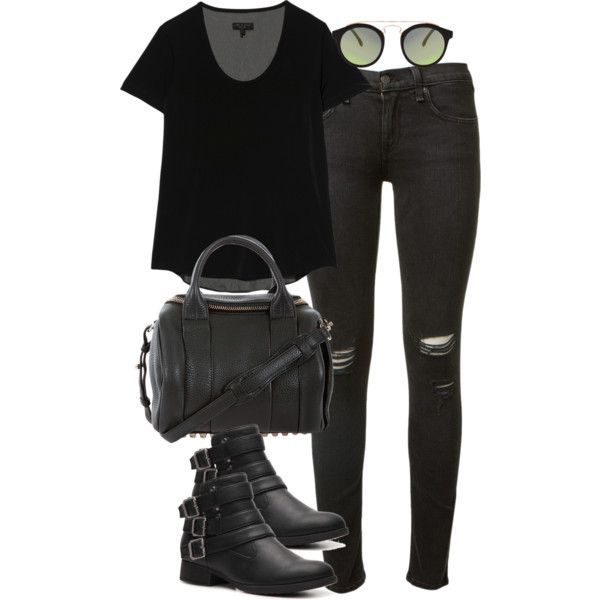 """""""inspired outfit with rag and bone jeans"""" by whathayleywore on Polyvore"""
