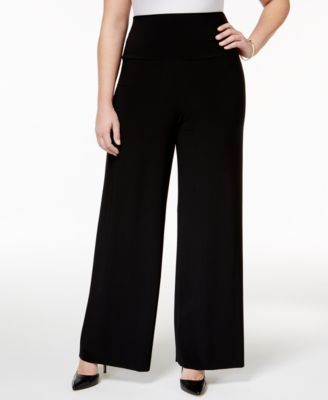 2c2c8a6d64c Anne Klein Plus Size Wide-Leg Soft Pants