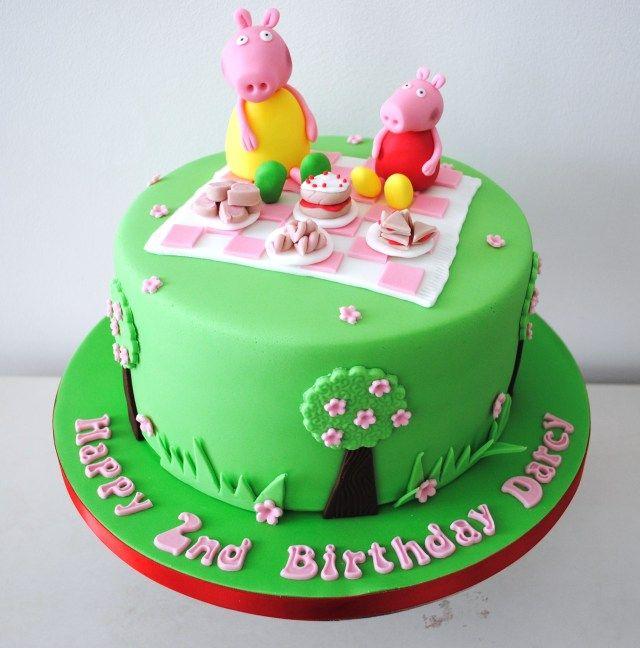 25+ Great Image of Pig Birthday Cake | Pig birthday cakes ...