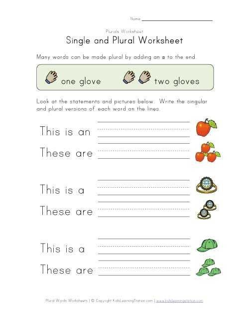 Nice Singular And Plural Worksheets For Grade 1 that you