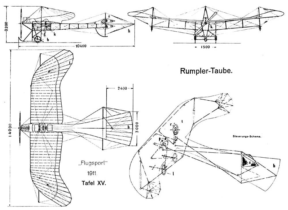Rumplertaubedesign1911 Etrich Taube Wikipedia Vintage Aircraft Vintage Airplanes Military Aircraft