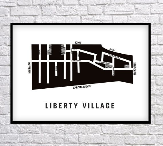 Liberty Village - Toronto Neighbourhood Art Print