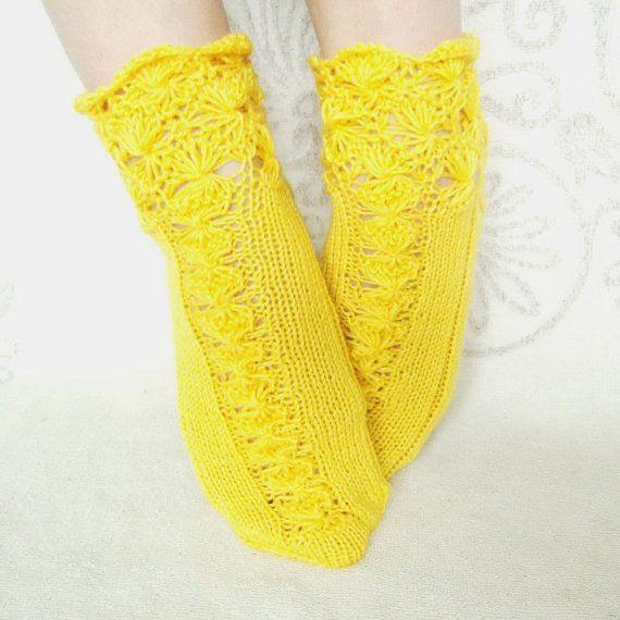 handmade knitted socks wool socks hand knit от mymomsshop1