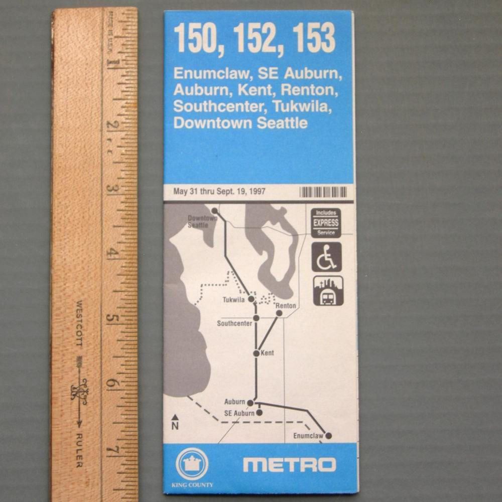 vintage 1997 #king #country #metro 150 152 153 bus schedule map