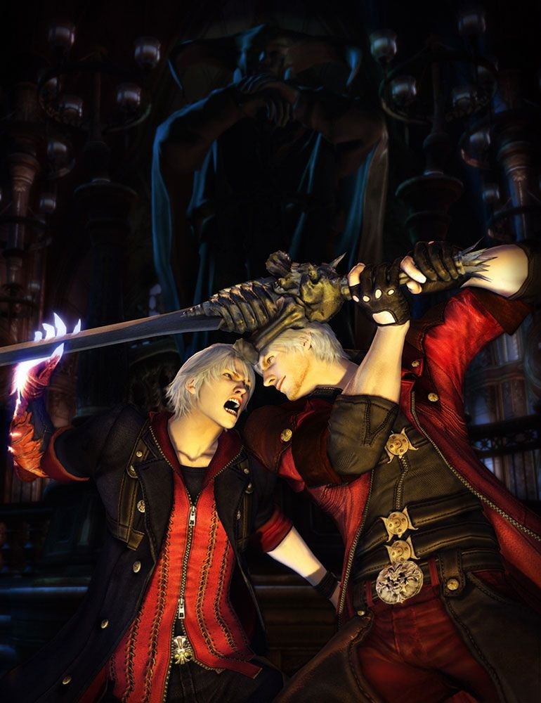 Nero vs Dante - Pictures  Characters Art - Devil May Cry 4