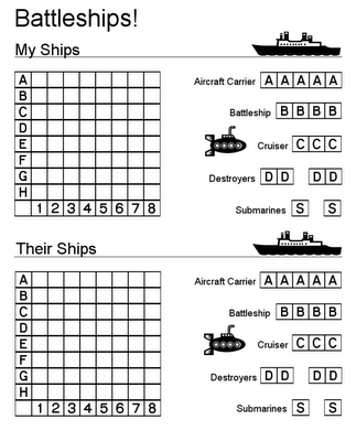 Printable Battleship Game and Other Printables Would Also Be Great