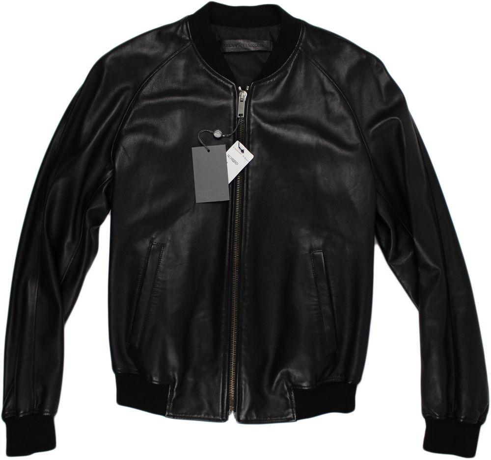 Leather jacket italy - Alexander Mcqueen Black Leather Jacket 50 40us Made In Italy Alexandermcqueen