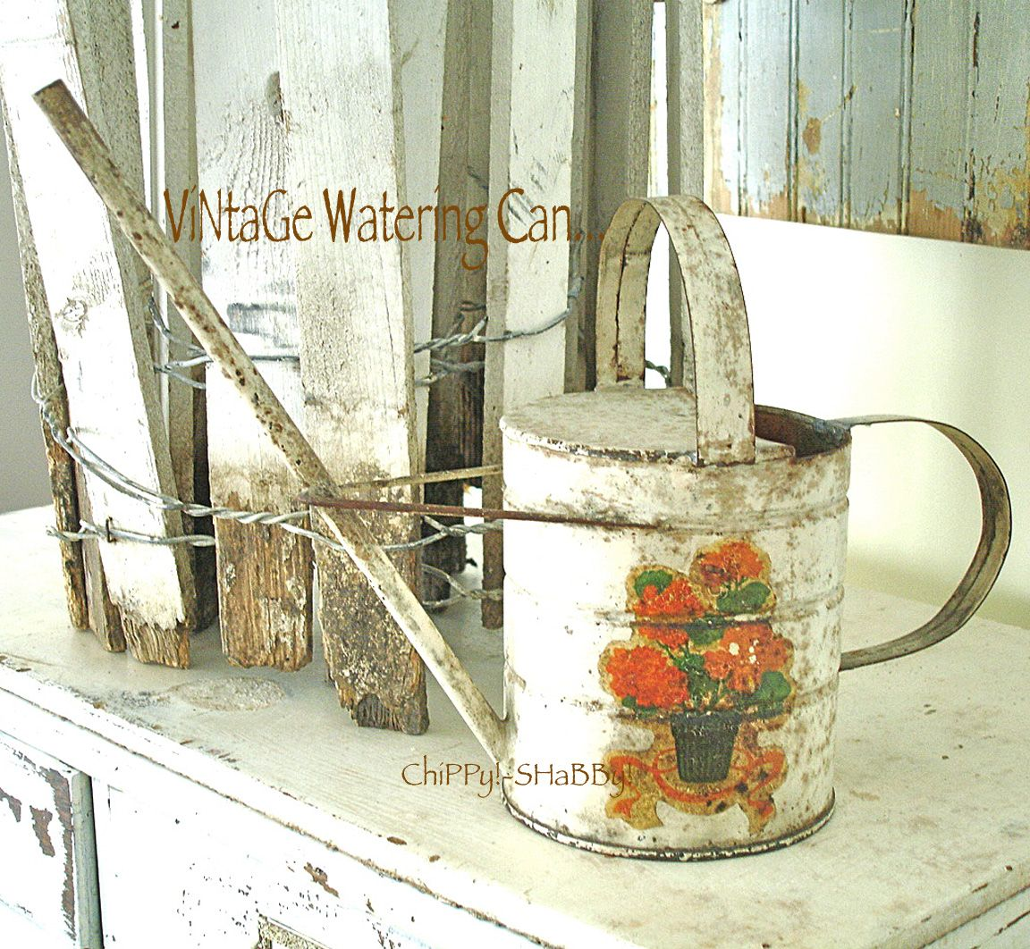ChiPPy! - SHaBBy!  ViNtaGe Watering Can with PaTiNa...