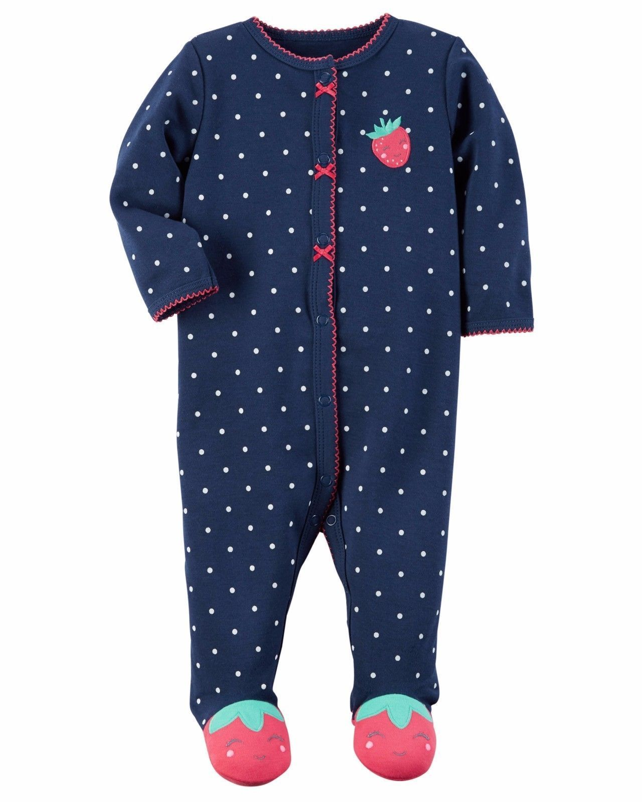 1413633fd Nwt Girls Carter sborn 3 6 9 Months Sleeper Sleep And Play ...